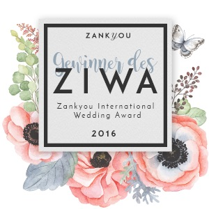 "Zankyou International Wedding Award ""Beste Hochzeitsplaner 2016"""